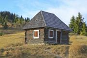 A wooden house on the meadow - Little wooden house