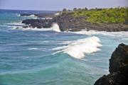 White waves at Comoros Island on a sunny day - White waves at Comoros