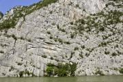 View of a limestone hill-side - Limestone mountain