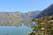 Mediterranean bay with reflecting mountains - Kotor