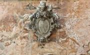 Old family coat of arms on a wall - Crest