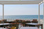 Empty beach restaurant at the Mediterranean Sea - Cafe del Mare
