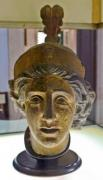 Antique statue head in the museum - Antique head