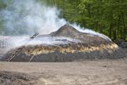 Making of charcoal with burning - Charcoal pile