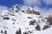 Big and snowy on the top of a mountain  - Snowy rocks