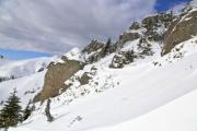 View of a snowy hill-side - Snowy ascent