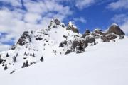 The snowy and rocky peak of a mountain - Snowy peak