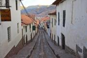 Steep street in the Inca's capital, Cuzco - Cozy street