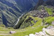 Deep valley under Machu Picchu - Machu Picchu