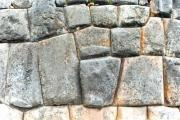 Carved stones in the Inca's wall in Cuzco - Inca's wall