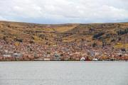 City at lake Titicaca in Peru - City of Puno