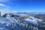 View from a hilltop in a ski resort - View from the top
