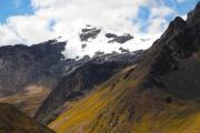 Monumental hill with glaciers in the Andes - Andes