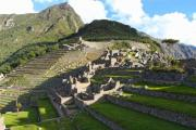 Macchu Picchu's terraces before sunset - Macchu Picchu