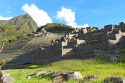 Macchu Picchu's terraces in the sunset - Macchu Picchu