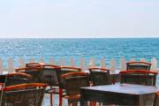 Empty beach bar in Montenegro - Cafe del mare