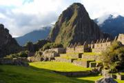 Macchu Picchu's buildings in the sunset - Macchu Picchu