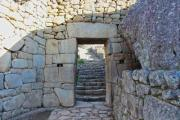 Stone gate on Macchu Picchu - Stone gate