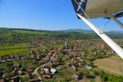 Aerial view of a settlement from a small aircraft - Aerial view