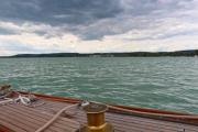 On the deck of an oldtimer yacht - Oldtimer yacht