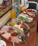 Appetizing food photo in a cozy restaurant. - Breakfast buffet