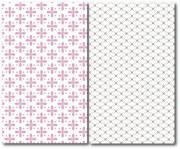 Pink flower pattern decorative vector  - Flower pattern