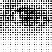 Printing grid-like graphic on transparent background. - Human Eye