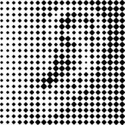 Printing grid-like graphic on transparent background. - Human Ear