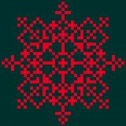 Geometric grid pattern. Design for needlework and any decorative purposes. - Rosette
