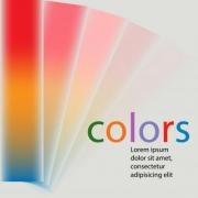 Spread out fan-shaped color gamut. Design for wide variety of subjects. - 'Rainbow' Fan