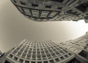 Business district at Milan in Italy. - Look Up!