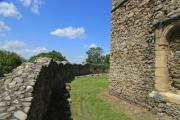 Wall of a fortified church - Fortified church