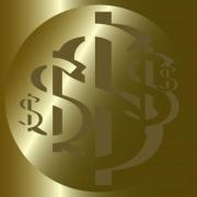 US Dollar Rosette No. 7. Design for logo, illustration, bag, ads, etc. - US Dollar Rosette No. 7.