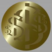 US Dollar Rosette No. 6. Design for logo, illustration, bag, ads, etc. - US Dollar Rosette No. 6.