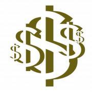 US Dollar Rosette No. 3. Design for logo, illustration, bag, ads, etc. - US Dollar Rosette No. 3.