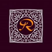 Ornate frame for monogram, logo or other symbol in arabesque style. The 'R' letter is replaceable. - Ornate Monogram Frame 'R'