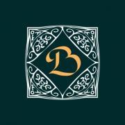 Ornate frame for monogram, logo or other symbol in arabesque style. The letter 'B' is replaceable. - Ornate Monogram Frame 'B'
