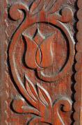 Tulip motif carved in wood - Tulip motif