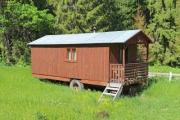 Forestry workers' temporary accomodation, which could be transported with a tractor - Rolling wheel house