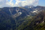 Aerial photo of some snow patches on a mountain - Snow patches on a mountain