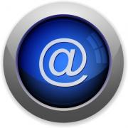 Blue glossy email web button - Email button