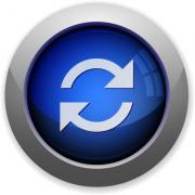 Blue glossy refresh web button - Refresh button