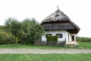 old european farmhouse with white background - farmhouse