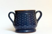 a beautiful blue ceramic holder jam - jam-term spotted kitchen decoration