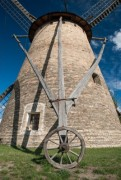 Old windmill and blue sky - Windmill