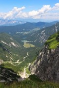 Nice view to a valley in the slovenian Alps - Valley in the Alps