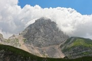 Great mountain in the slovenian Alps, named Mangart - The Mangart