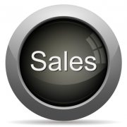Gray glossy sales concept button. Arranged layer structure. - Gray sales concept button