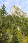 The Bicaz Gorge with Altar Rock (Piatra Altarului) - Bicaz Gorge