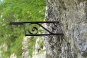 Old wrought iron lamp holder - Wrought iron lamp holder